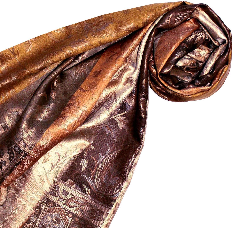 LORENZO CANA Luxus Damen Pashmina Schal Schaltuch jacquard gewebt 100/% Seide 70 x 190 cm Paisley Muster Seidenschal Seidentuch Seidenpashmina harmonische Farben