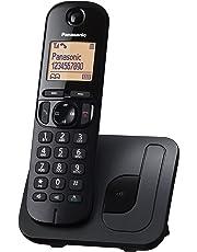 Panasonic KX-TGC210 - Teléfono fijo inalámbrico (LCD, identificador de llamadas, agenda de 50 números, tecla de navegación, modo ECO, reducción de ruido), color negro