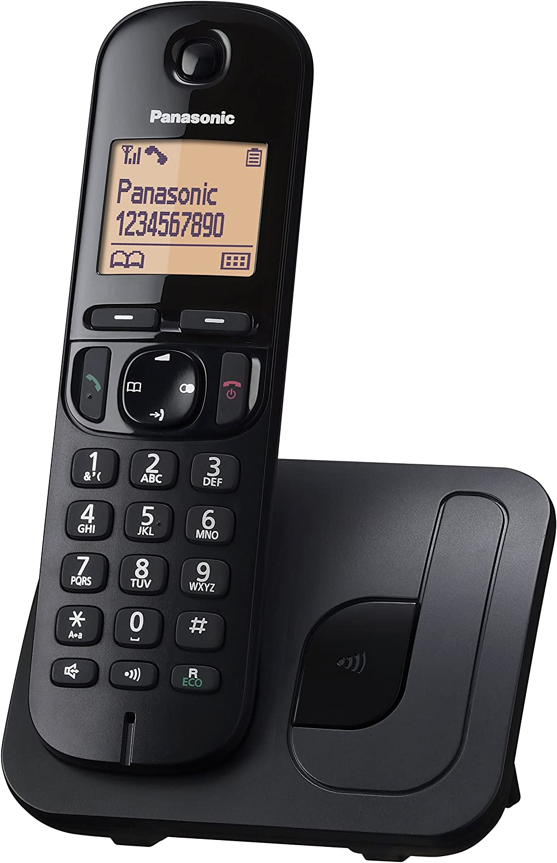 Panasonic KX-TGC210 - Teléfono fijo inalámbrico (LCD, identificador de llamadas, agenda de 50 números, tecla de navegación, modo ECO, reducción de ruido), Negro, TGC21 Solo: Panasonic: Amazon.es: Electrónica