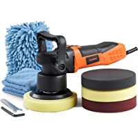 """VonHaus Dual Action Polisher Buffer Machine 6"""" Random Orbit with 6 Variable Speeds, 4 Pads for Polishing, Wash Mitt, Microfiber Cloth and Carrying Bag - Ideal for Cars, Boats and Tiles"""