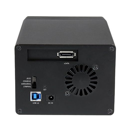 StarTech.com USB 3.0 eSATA Dual 3.5 SATA III Hard Drive RAID Enclosure w/UASP and Fan - Black - Multi Bay 3.5