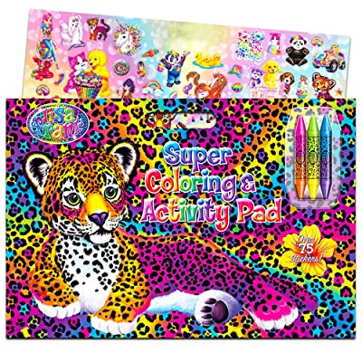 Lisa Frank Super Coloring and Activity Pad with Colorful Fun Stickers: Toys & Games
