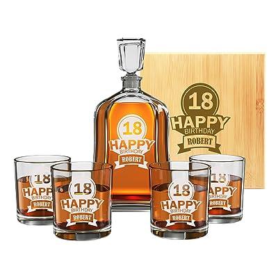 Premium Custom Engraved Whiskey Decanter Set
