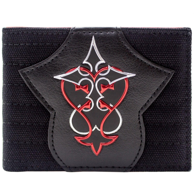 Kingdom Hearts Simbolo rosso e argento Nero Portafoglio 30933