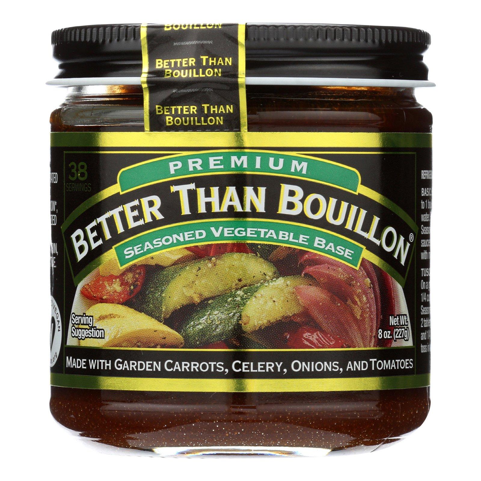 Better Than Bouillon Organic Seasoned - Vegetable Base - Case of 6 - 8 oz.