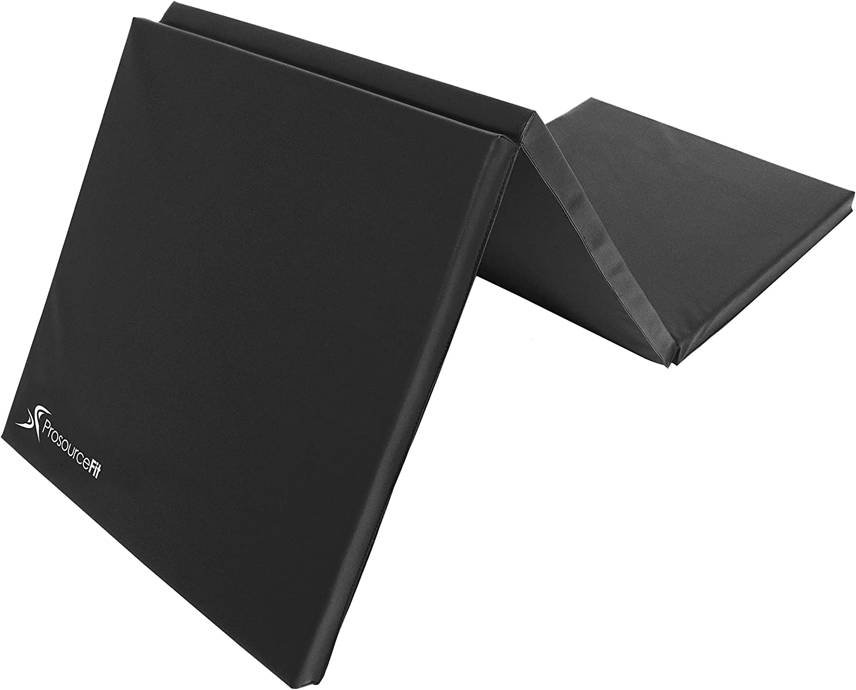 ProsourceFit Tri-Fold Folding Exercise Mat - Black : Sports & Outdoors