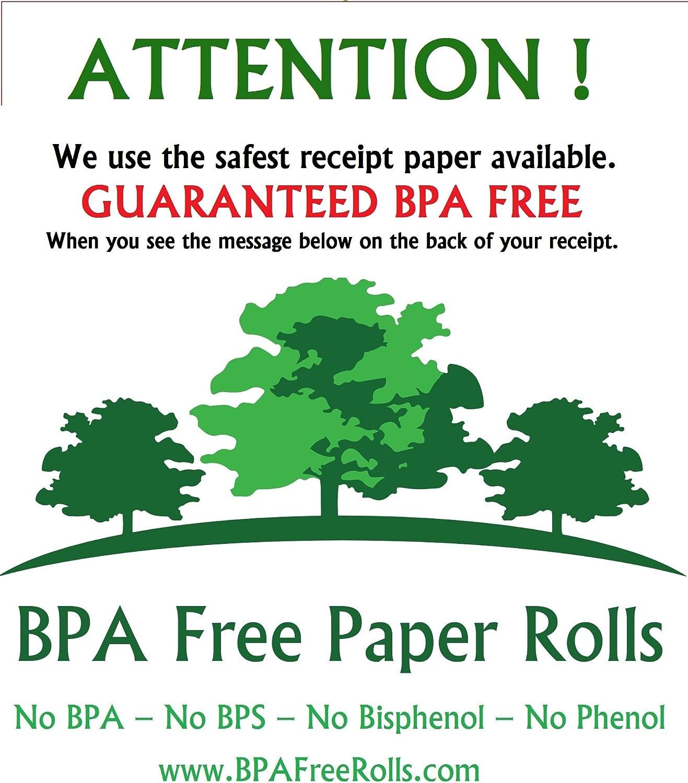 BPC Free Ingenico Move 3500 BPA Free Credit Cards Rolls BPS Free Phenol Free 1 BPF Free 50 Rolls per Box 57x40mm Credit Card Rolls BPA Free