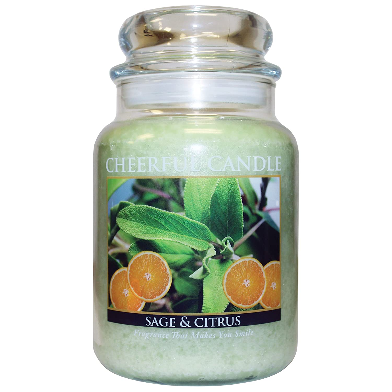 A Cheerful Giver Sage and Citrus Jar Candle 24-Ounce