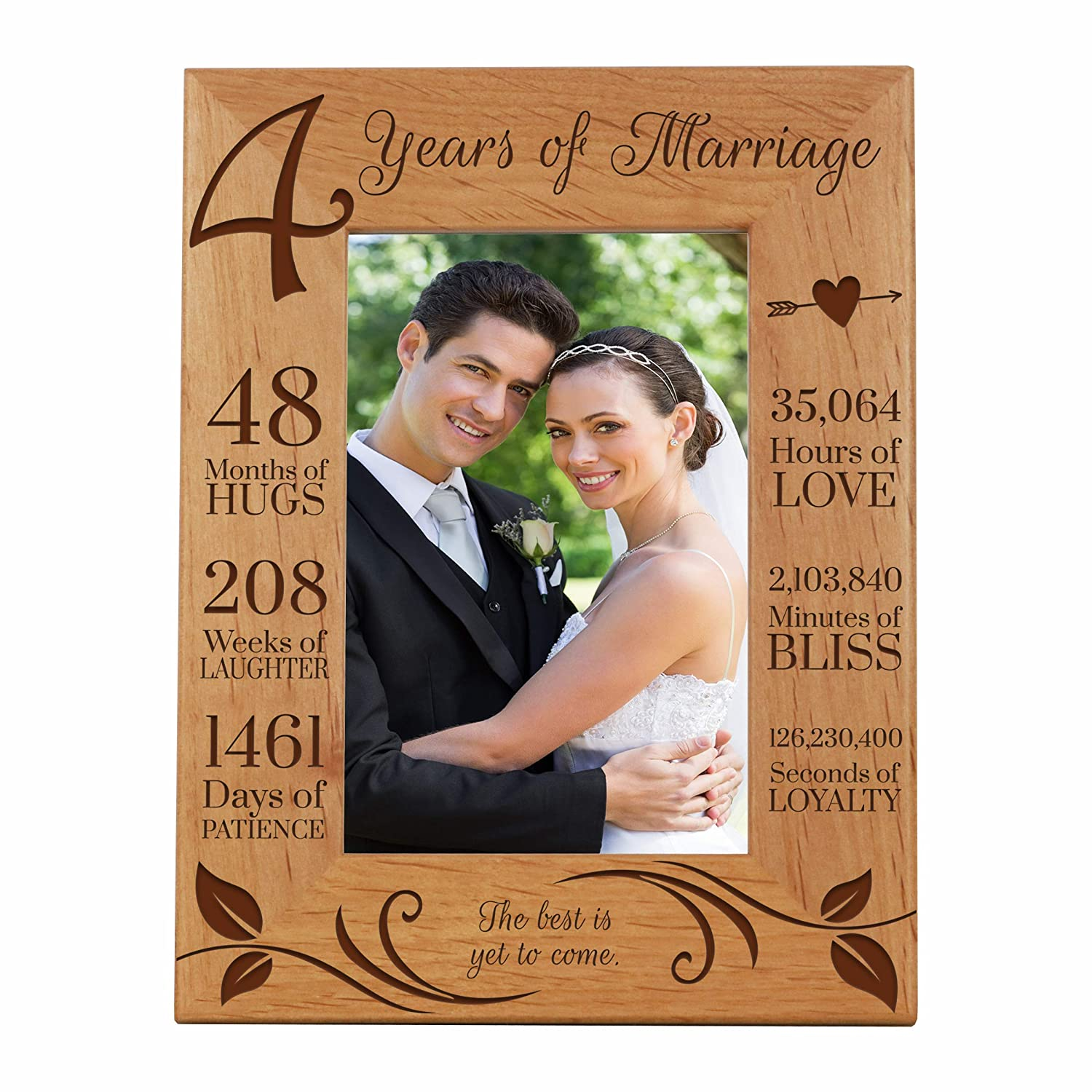 6 5x8 5 Lifesong Milestones 4th Anniversary Picture Frame 4 Year Of Marriage Four Year Wedding