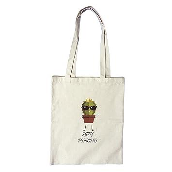 Bolsa de tela con mensajes personalizadas (Hoy Pincho) al hombro 34cm x 41cm