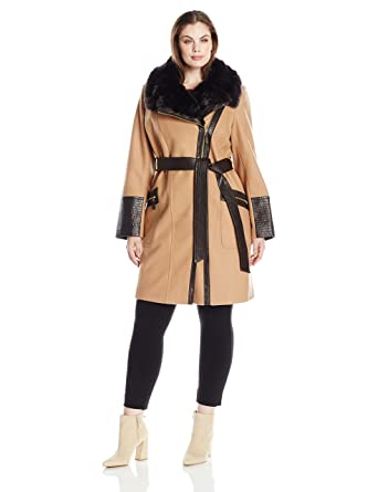 8fd65ae060d Via Spiga Women s Size Plus Kate Middelton Wool Coat at Amazon Women s  Clothing store