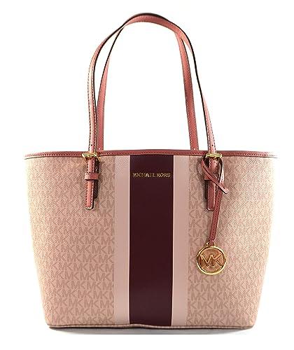 cost charm utterly stylish buying new Michael Kors Jet Set Travel Medium Carryall Saffiano Leather Tote Bag Purse  Handbag