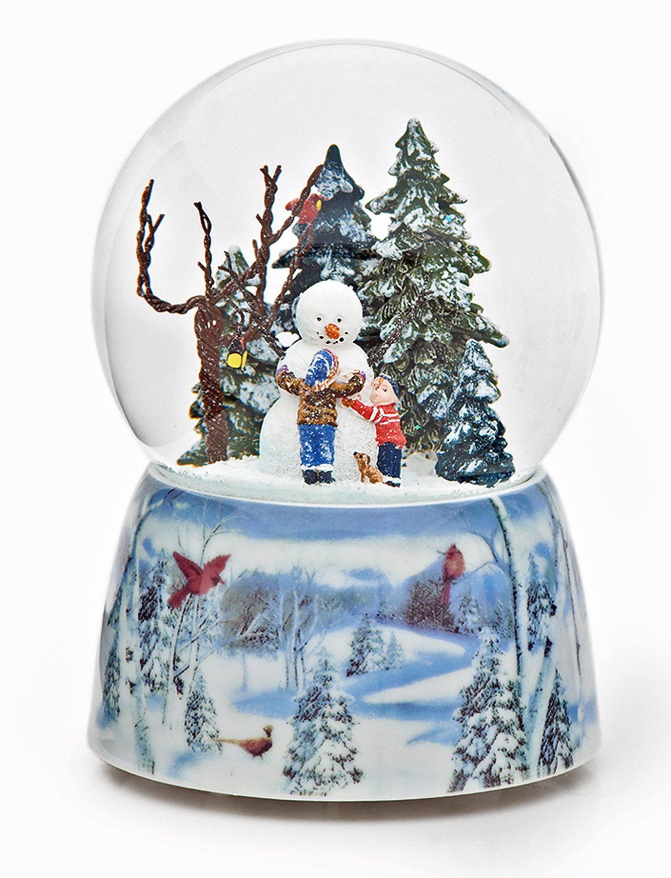 KensingtonRow Home Collection GLEEFUL SNOWMAN MUSICAL SNOW GLOBE - SNOWMAN WITH CHILDREN