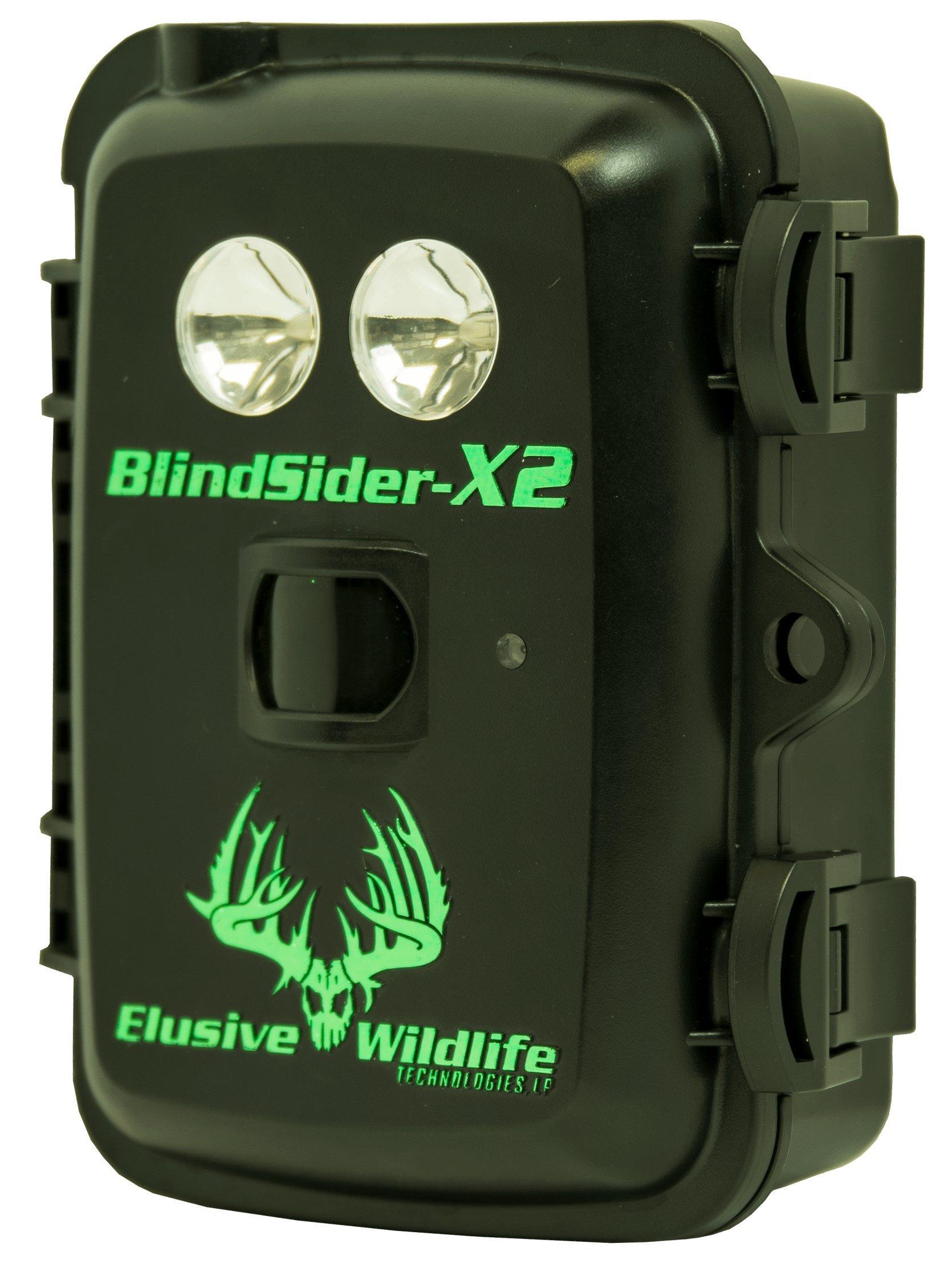 Elusive Wildlife Blind Sider X2 Motion Activated Feeder & Bait Light (Red) by Elusive Wildlife