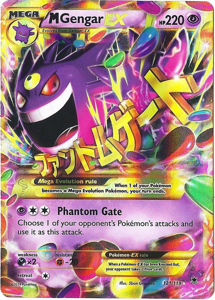 amazon com pokemon m gengar ex card xy phantom forces 121 119