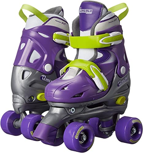 Chicago Kids Adjustable Quad Roller Skates – Purple
