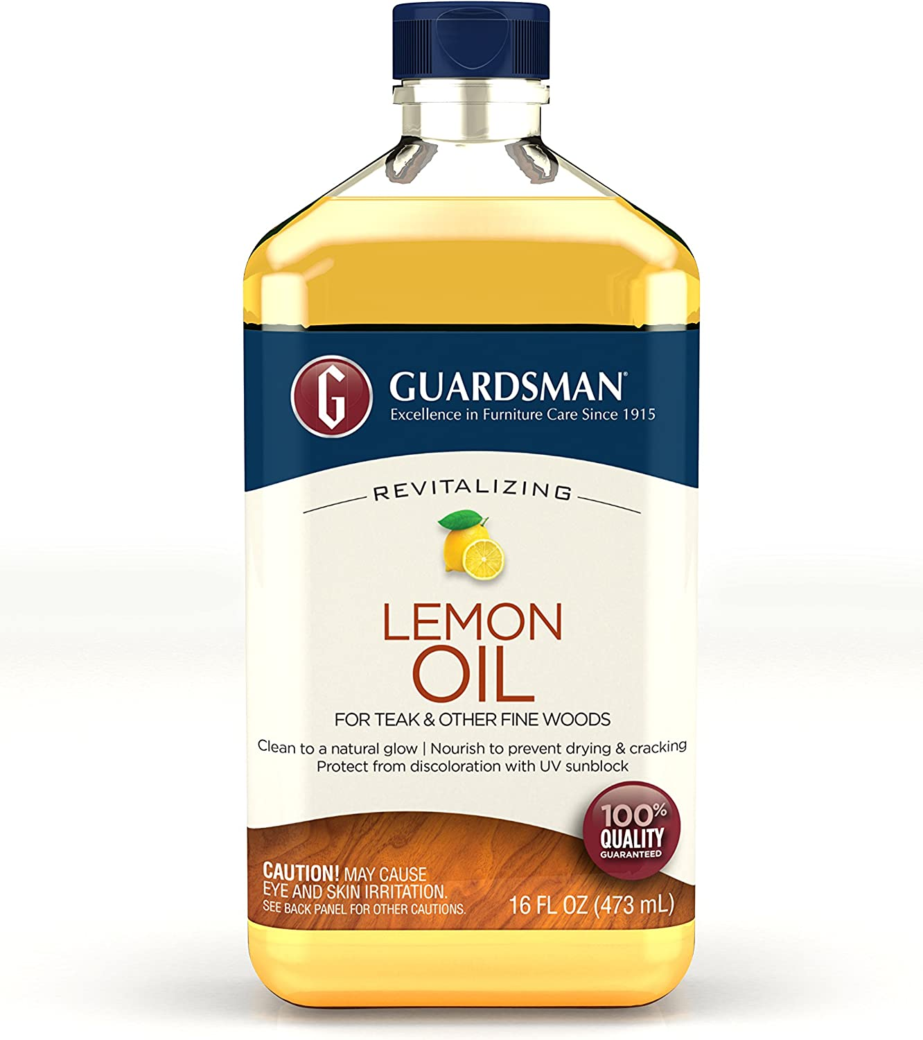 Guardsman Revitalizing Lemon Oil For Wood Furniture - 16 oz- UV protection, Cleans, Restores and Protects - 461700