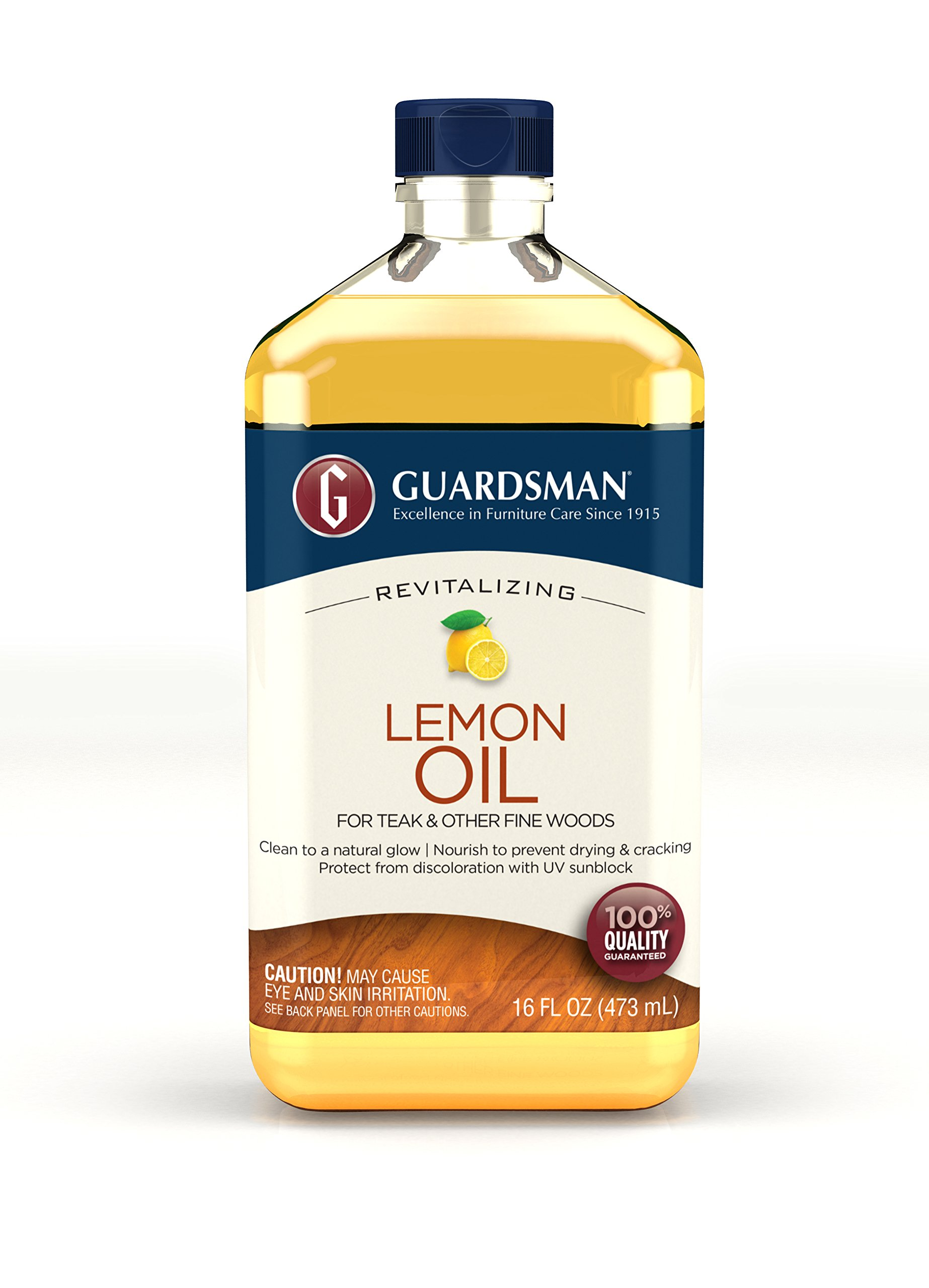 Guardsman Revitalizing Lemon Oil For Wood Furniture - 16 oz- UV protection, Cleans, Restores and Protects - 461700 by Guardsman