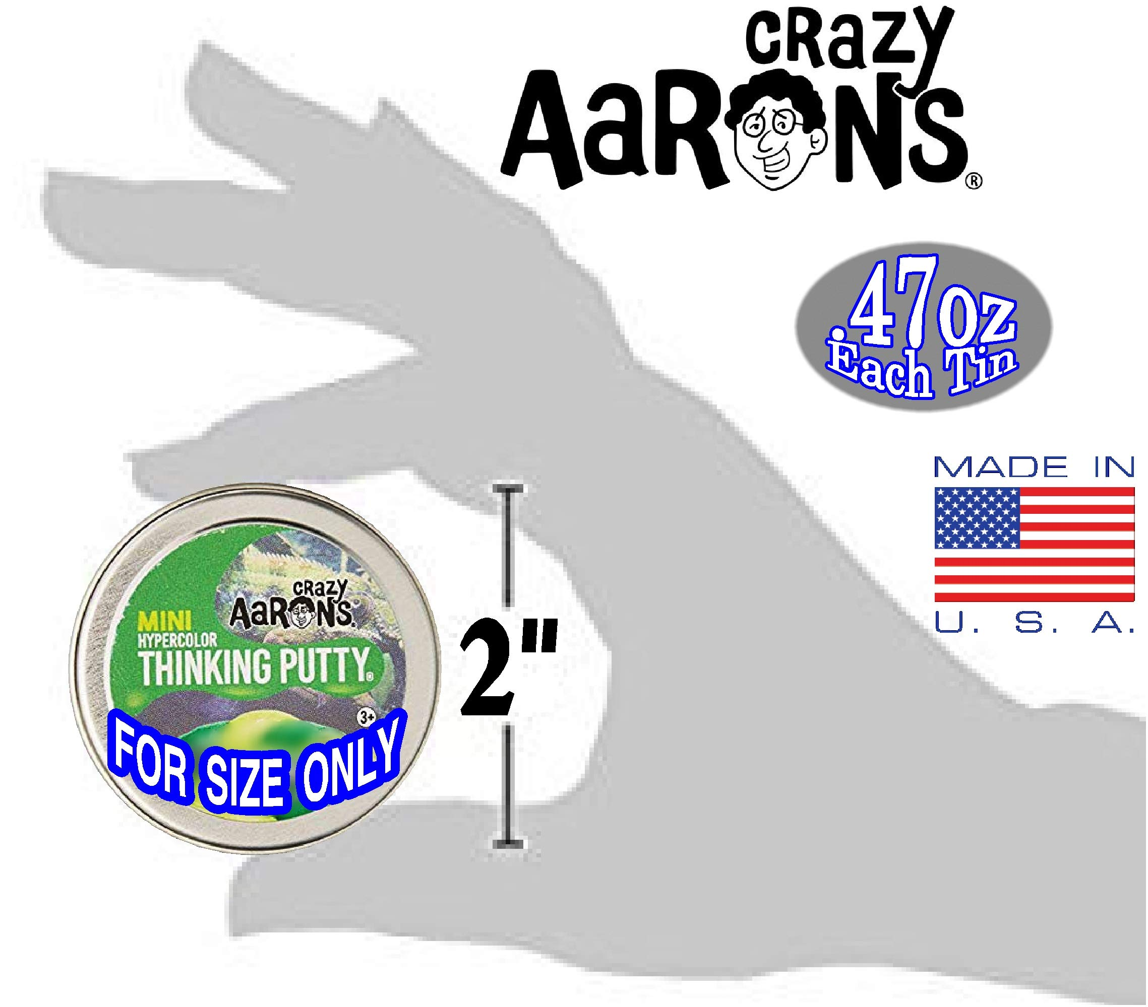 Crazy Aaron's Thinking Putty Mini Tin Gift Set Bundle (Sample Set 3) with Super Fly, Neon Flash, Super Lava, Amber, Love Air & Exclusive Scorpion Skin Glow in The Dark - 6 Pack by Crazy Aaron's (Image #8)