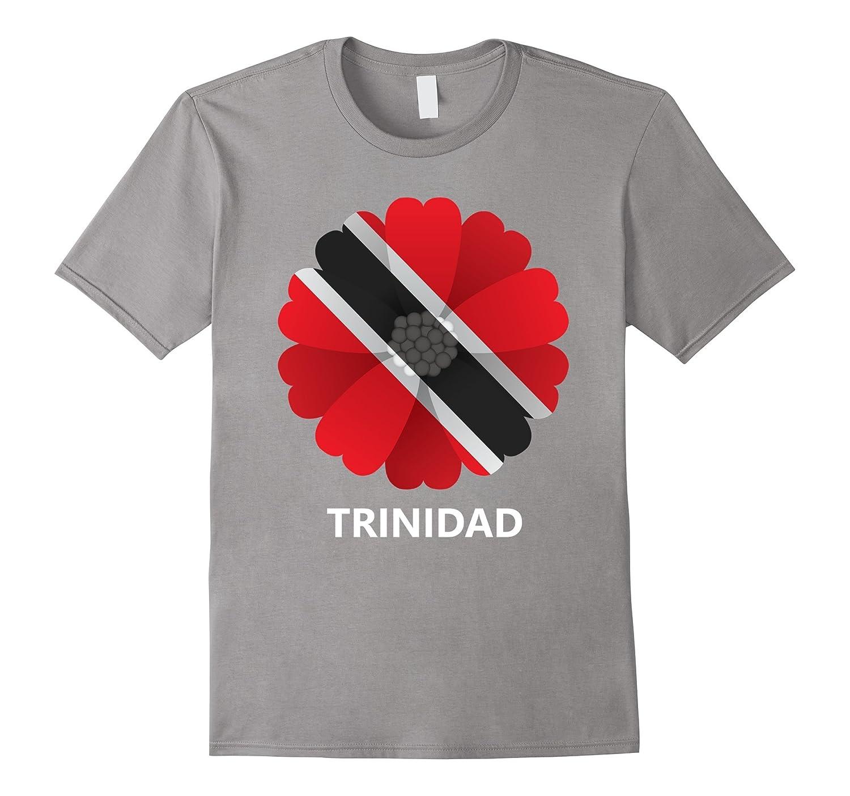 Logiamerch Trinidad Flag Flower T Shirt Pl Polozatee