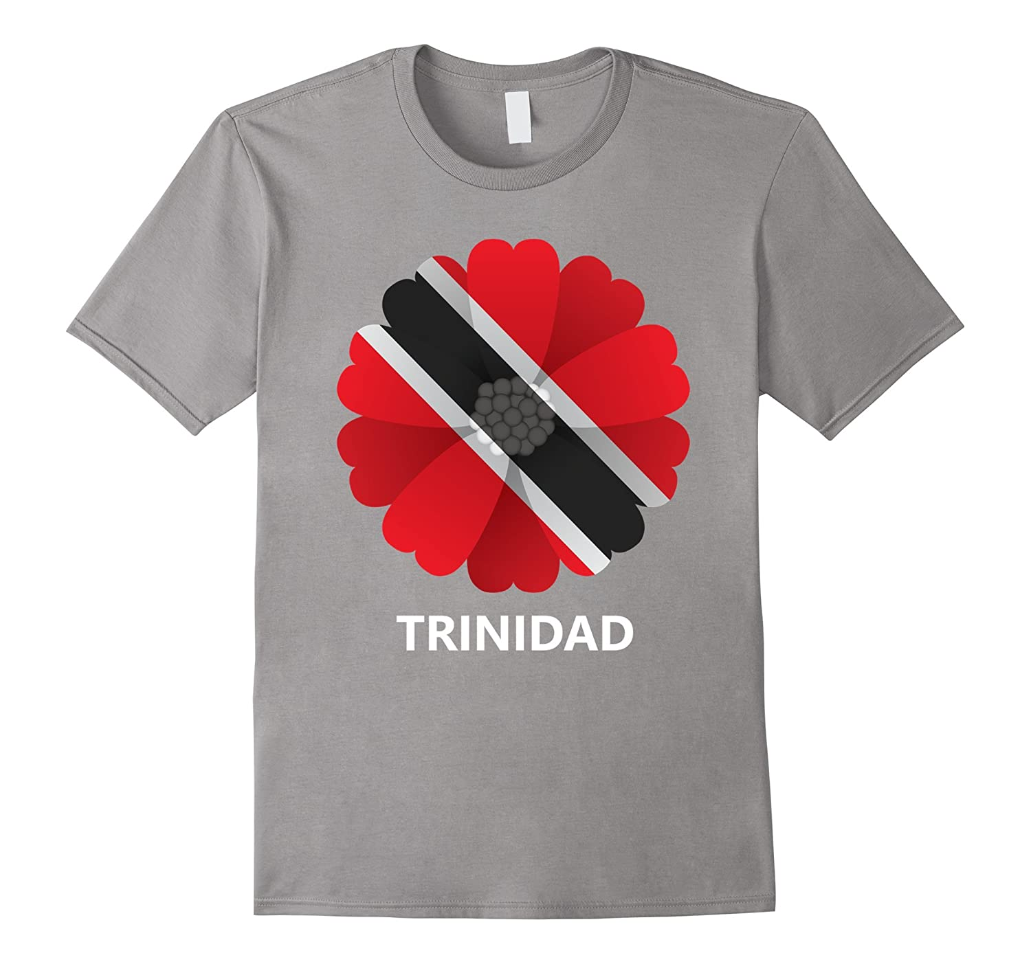 Logiamerch: Trinidad Flag Flower T-Shirt-TH