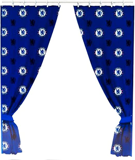 Chelsea FC Official Repeat Crest Curtains - 72 Inch