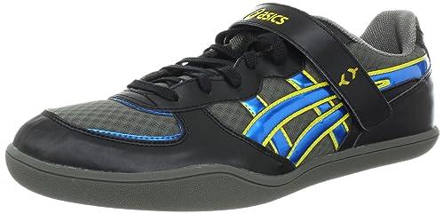 55d385690ea80 Amazon.com   ASICS Hyper Throw 2 Throwing Shoe, Black/Jet Blue ...
