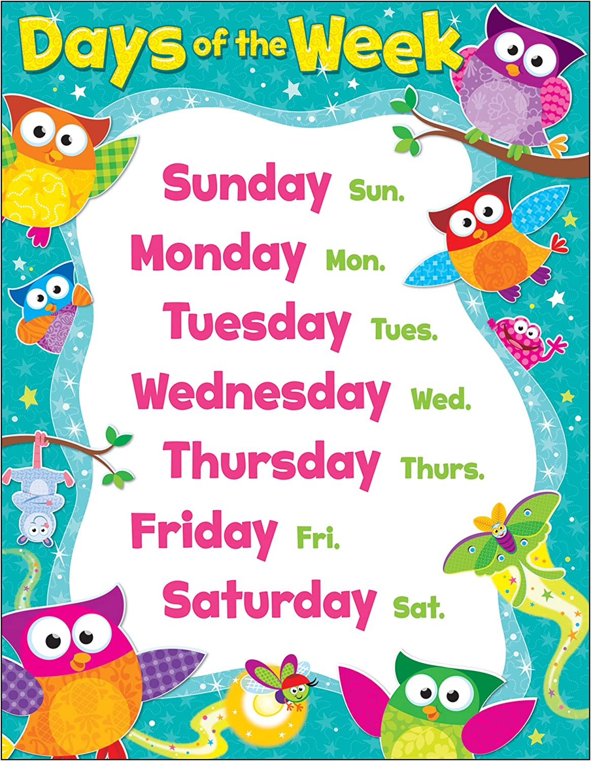 Image result for owl star days of the week clipart