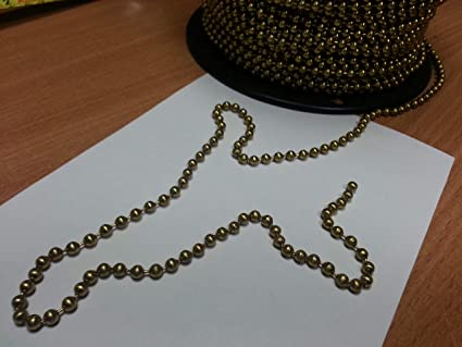 Brass 4 5mm Ball Roller / Roman blind chain - sold by the metre