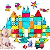 HLAOLA Magnetic Building Blocks Magnetic Tiles 3D Tiles Set 73PCS Magnetic Toys for 2 3 4 5 6 7 Year Old Boys Girls Gifts Edu