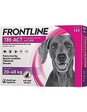 Frontline | TriAct Spot On Cani | Protezione da pulci, zecche, mosche cavalline pappataci | 3 Pipette | Cane L (20 - 40 Kg)