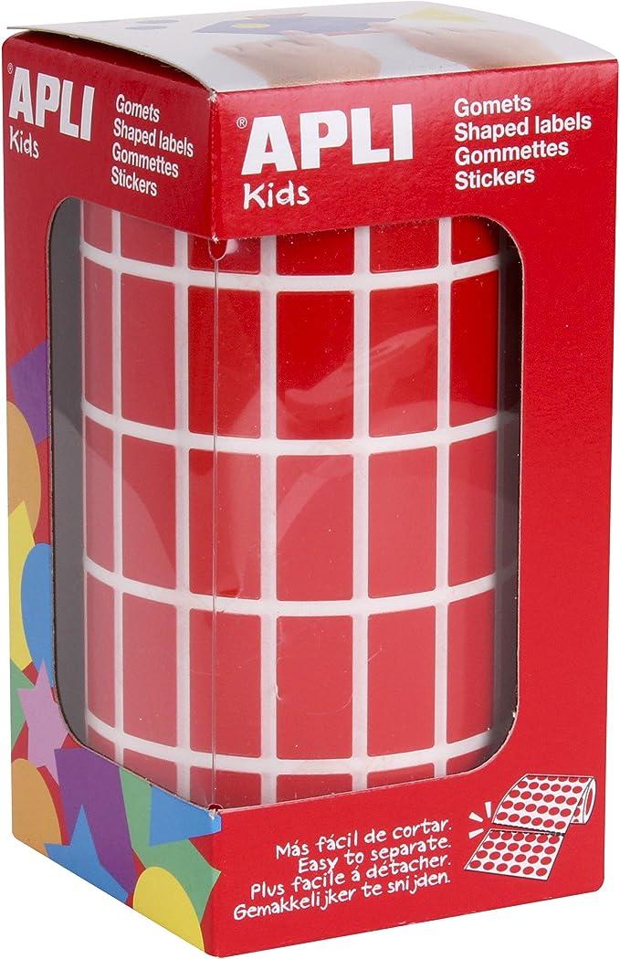 Rotolo di gommini rotondi Rotondo /Ø 15 mm rosso APLI Kids