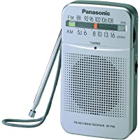 Panasonic Portable Pocket-Sized AM/FM Pocket Radio, Silver (RF-P50DGC-S)