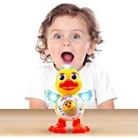 Kurtzy Dancing Duck Toy with LED Light Musical Sound for Baby Children Kids Certified by Bureau of Indian Standards