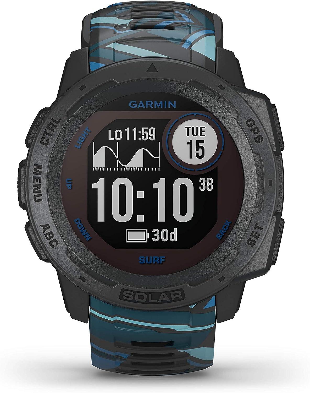 Garmin Instinct Solar Surf, Reloj GPS resistente con carga solar - Pipeline: Amazon.es: Deportes y aire libre