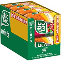 Tic Tac Fresh Breath Mints, Fruit Adventure, Bulk Hard Candy Mints, 3.4 oz Bottle Packs, 8 Count