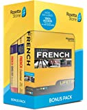 Rosetta Stone Learn French Bonus Pack Bundle| Lifetime Online Access + Grammar Guide + Dictionary Book Set| PC/Mac…