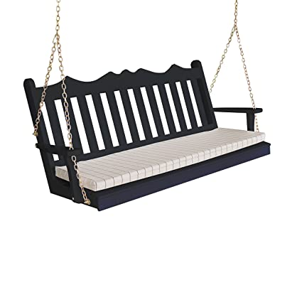 Brilliant Amazon Com Wood Porch Swing Amish Outdoor Hanging Porch Alphanode Cool Chair Designs And Ideas Alphanodeonline