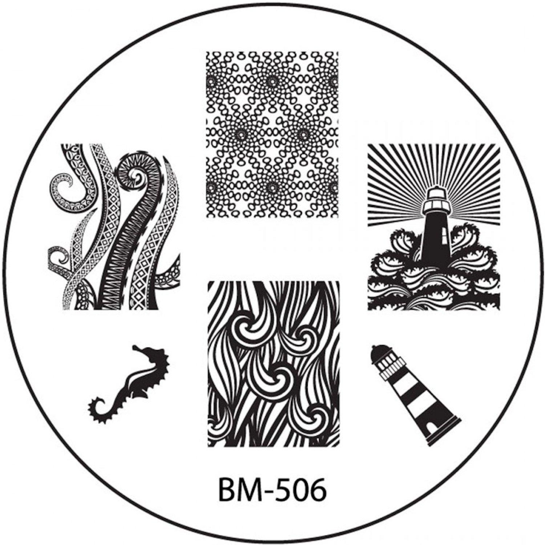 STAMPING-SCHABLONE # BM-506 °°Sommer, Meer, Ozean, Urlaub ...