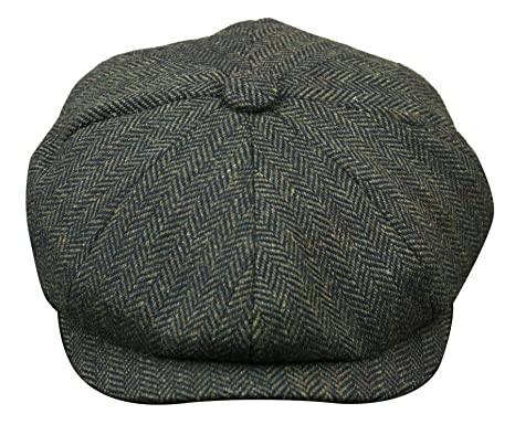 Mens Tweed Newsboy Cap Peaky Blinders Baker Boy Flat Check Grandad Hat   Amazon.co.uk  Clothing 1d4c53cd9cb