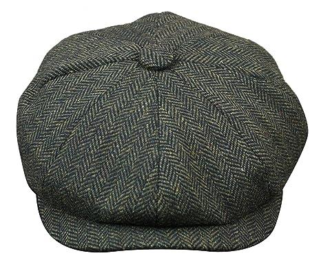 7c75dede Mens Tweed Newsboy Cap Peaky Blinders Baker Boy Flat Check Grandad Hat:  Amazon.co.uk: Clothing