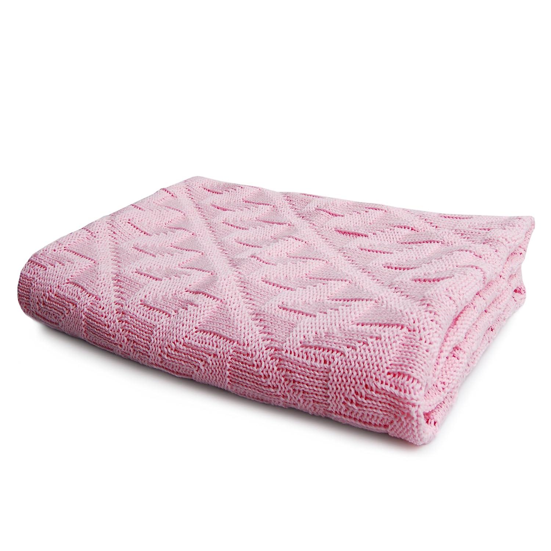 Mantita para beb/é rosa rosa 100/% algod/ón org/ánico