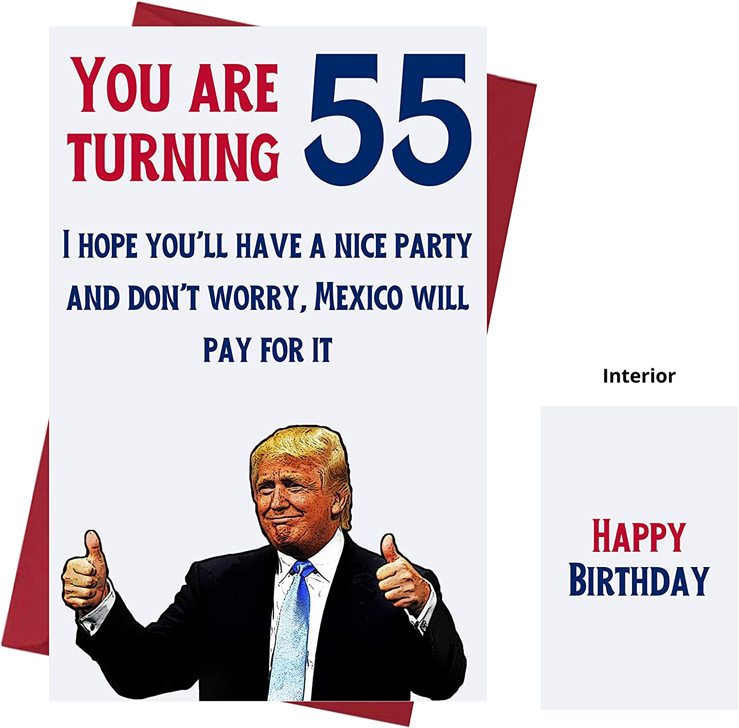 Amazon Com Let S Make 55 Great Again Donald Trump Sarcasm 55th Birthday Cards For Women Men Friends Coworkers Etc Donald Trump Birthday Cards 55 Years Old 55th Birthday Cards 55th Anniversary Office Products