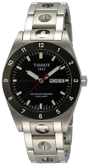 Tissot T91148351 - Reloj analógico de caballero automático con correa de acero inoxidable plateada