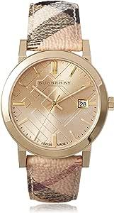 Burberry city Unisex Analog Quartz Watch with Leather bracelet BU9026