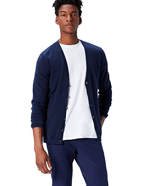 Amazon Brand - find. Mens Cotton Button Down Cardigan Sweater