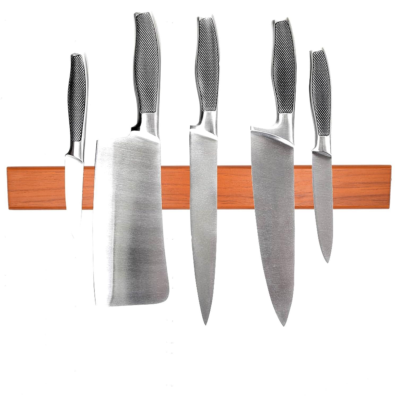 Imán de neodimio de madera, soporte magnético para cuchillos ...