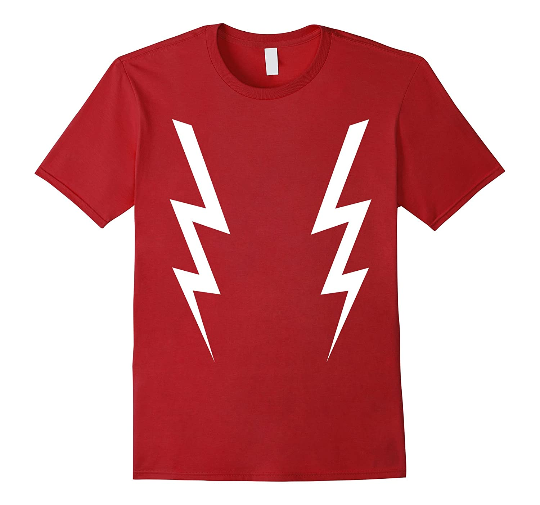White Lightning Bolts T-Shirt Mens & Womens Sizes 5 Colors-FL