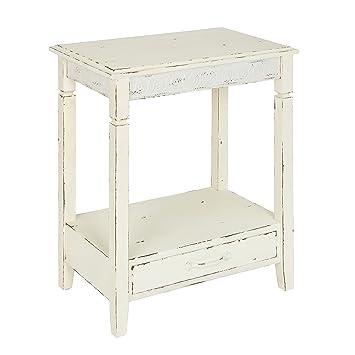 Amazon.com: Kate y Laurel Idabelle mesa auxiliar de madera ...