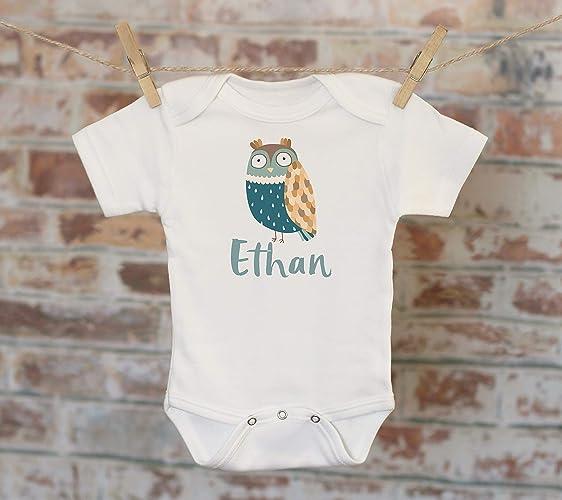a4f5cb700 Amazon.com: Blue Owl Baby Name Personalized Onesie®, Custom Baby Onesie, Customized  Onesie, Woodland Style Onesie, Boho Baby Onesie, Boy Name Onesie: ...